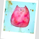 Gatto dipinto a mano - I gatti di Luì
